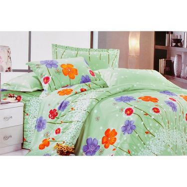 Set of 4 Beautiful Printed Multicolor Double Bed Sheet with 8 Pillow Covers-GO-05_7_9_10