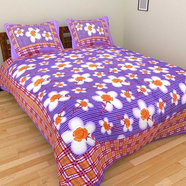 GRJ INDIA Pure Cotton Floral Print 8 Double BedSheet With 16 Pillow Covers-GRJ-8DB-581