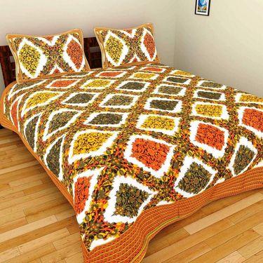GRJ India Pure Cotton Multi Colour 8 Double BedSheet With 16 Pillow Covers-GRJ-8DB-69PK-68BL-67GRN-70PL-72GR-73BR-71PL-68PL