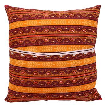 GRJ India Traditional Kantha Work  Rajasthani Print Cushion Cover Set-5 pcs-GRJ-CC-5P-22