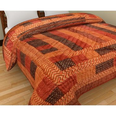 GRJ India Designer Printed Double Bed AC Quilt-GRJ-DQ-130