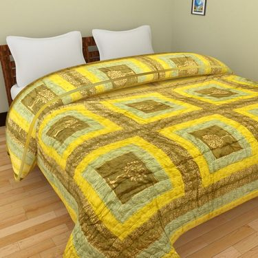 GRJ India Designer Printed Double AC Bed Quilt-GRJ-DQ-140