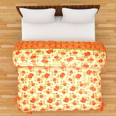 GRJ India Designer Printed Single AC Bed Quilt-GRJ-SQ-149