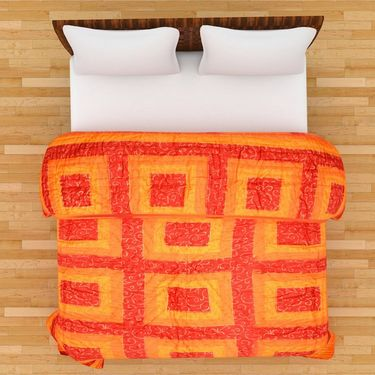GRJ India Designer Printed Single AC Bed Quilt-GRJ-SQ-154