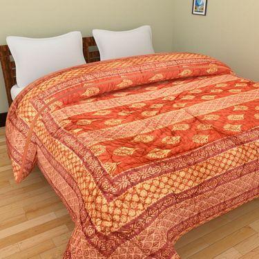 GRJ India Designer Printed Single AC Bed Quilt-GRJ-SQ-159