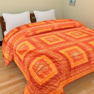 GRJ India Designer Printed Single AC Bed Quilt-GRJ-SQ-162