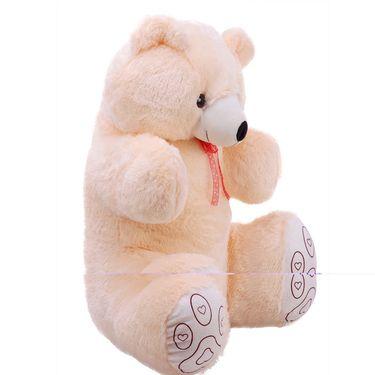 Valentine Combo of 4 Feet Teddy & Soft Toy Heart - Cream