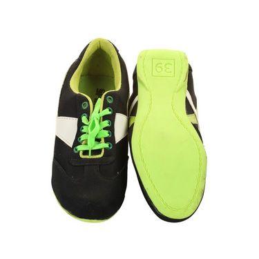 Ultimate PU Sports  GSB_S-5_Black-Green -  Black