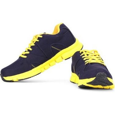 Globalite Synthetic Sports Shoes GSC0259 -Navy Yellow