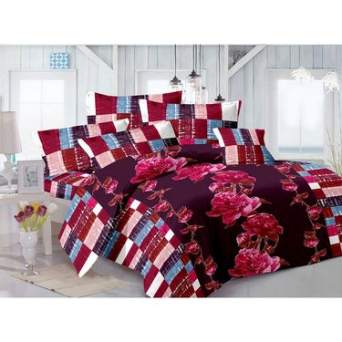Valtellina 100% Cotton Double Bedsheet with 2 Pillow Cover-GVS-7004-H