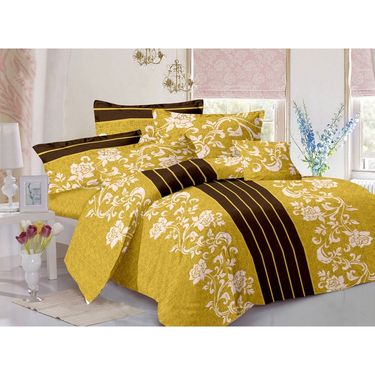 Valtellina 100% Cotton Double Bedsheet with 2 Pillow Cover-GVS-7685-D