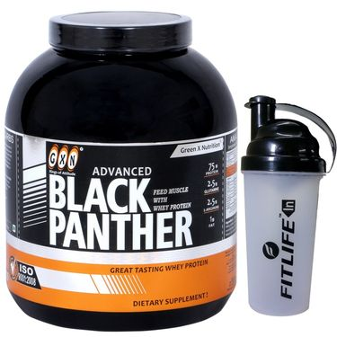 GXN Advance Black Panther 7 Lb (3.17kgs) Strawberry Flavor + Free Protein Shaker
