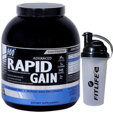 GXN Advance Rapid Gain 4 Lb (1.81kg) Banana Flavor + Free Protein Shaker