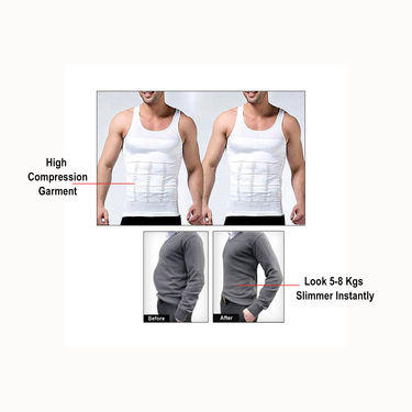 Get In Shape Slimming Vest for Men - Pack of 2