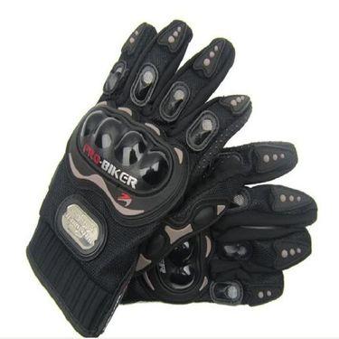 Combo of Bike Body Cover + ProBiker Gloves + Flash Wheel Lights + Hanging Ganesha for Bajaj Pulsar 200NS COMBOBKSilver-BJPLSR200