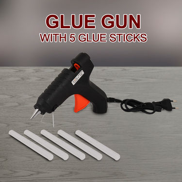 Glue Gun with 5 Glue Sticks