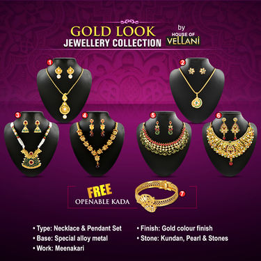 Gold Look Jewellery Collection by Vellani