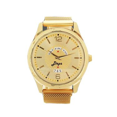 Gold Watch with Magnetic Strap