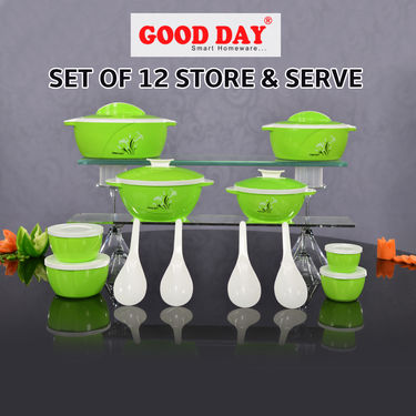 Good Day Set of 12 Store & Serve