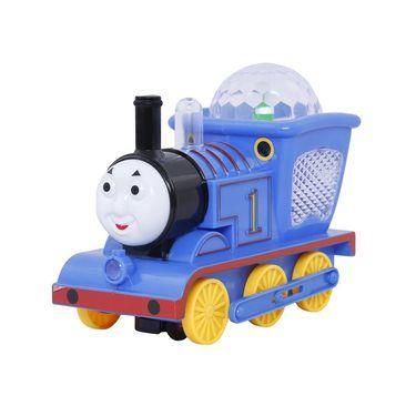 Bump n Go 3D Lighting Musical Loco Engine - Blue