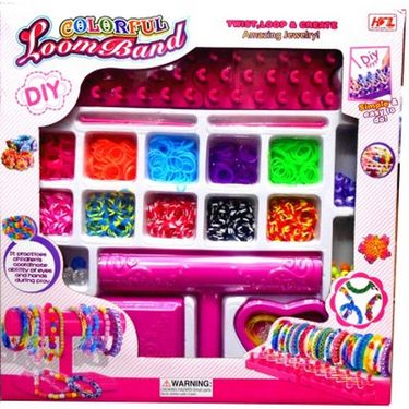 Colorful Loomband With Loom Stand Large Pack