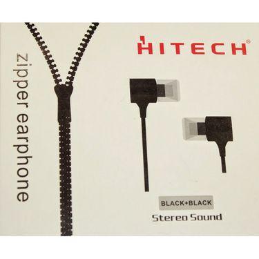 Hitech Zipper Stereo Earphone - Black
