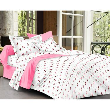 Ahem Homes Cotton  Single Bedsheet with 1 Pillow Cover-HZ1203