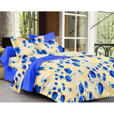 Ahem Homes Cotton Single Bedsheet with 1 Pillow Cover-HZ1209