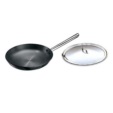 Hawkins Futura HA Frying Pan with SS Lid and Handle 30cm - Black