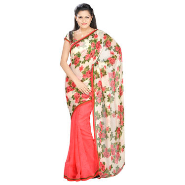 Heeral Collection of 9 Printed Georgette Sarees by Pakhi (9G6) with 9 Free Jewellery