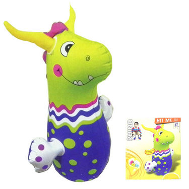Hit-Me Rhinoceros Face Bop Bag for Kids