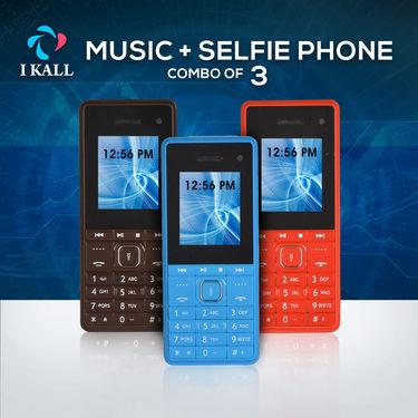I Kall Music + Selfie Phone Combo of 3