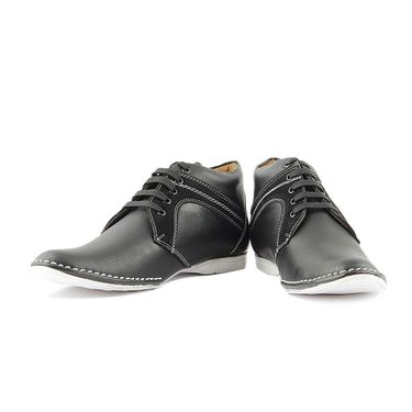 Faux Leather Black Casual Shoes -bn16