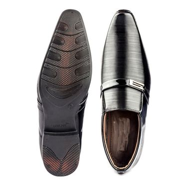 Faux Leather Black Formal Shoes -bn39