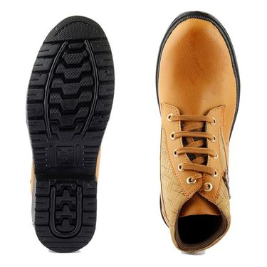 Faux Leather Brown Casual Shoes -bn24