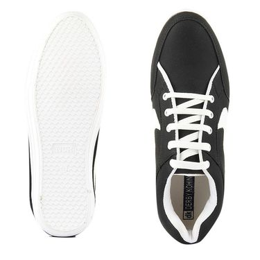 Canvas Black Casual Shoes -bn15