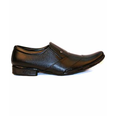 Faux Leather Black Formal Shoes -bn41