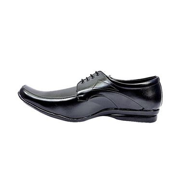 Faux Leather Black Formal Shoes -bn42