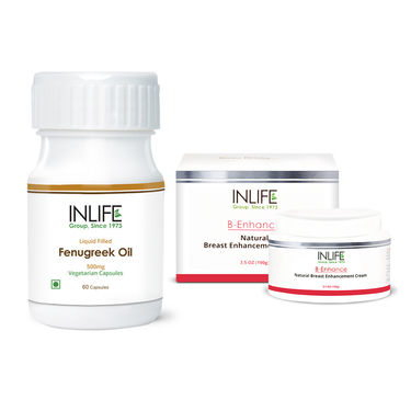 INLIFE Breast Care Combo Of Cream & Fenugreek Seed Oil Caps
