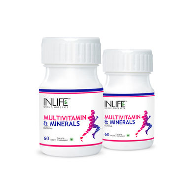 INLIFE Pack of 2 Multivitamin & Minerals With Biotin - 60 Tabs