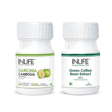 INLIFE Weight Management Combo Of Green Coffee bean & Garcinia Cambogia ExtractVeg Capsules