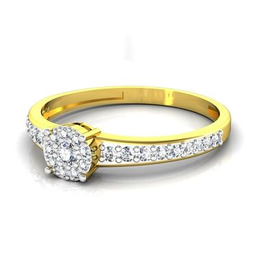 Avsar Real Gold & Swarovski Stone Ranchi Ring_I042yb