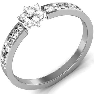Avsar Real Gold & Swarovski Stone Janavi Ring_I088wb