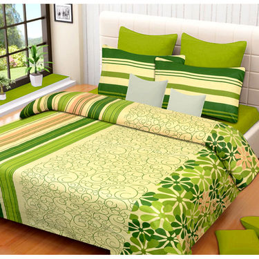 Set of 2 IWS Cotton Printed Double Bedsheet with 4 Pillow Covers-CB1304