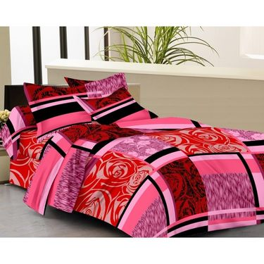 IWS Designer Cotton Printed Double Bedsheet with 2 Pillow cover- IWS-CB-40