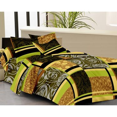IWS Set of 3 100% Cotton Double Bedsheet with 6 Pillow Cover-IWS-CB-642
