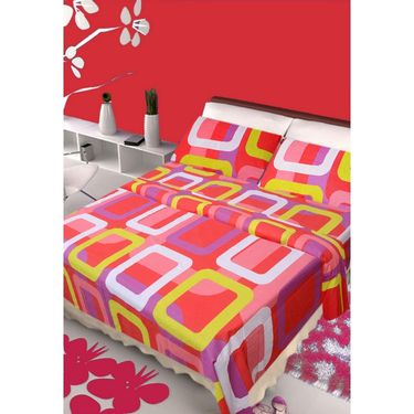 IWS Set of 3 100% Cotton Double Bedsheet with 6 Pillow Cover-IWS-CB-649