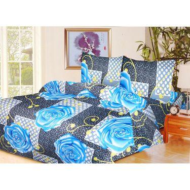 10 Piece Home Decor Combo (IWS 2 Bedsheet with 4 Pillow Covers + 2 Door Curtains + 2 Mats) -IWS-JC-09