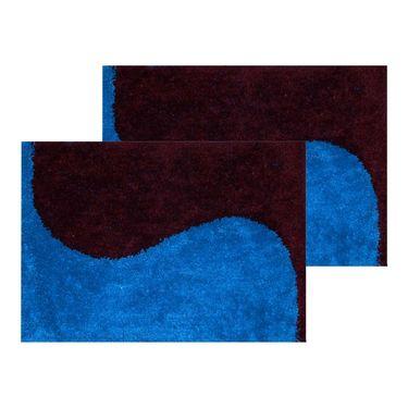 10 Piece Home Decor Combo (IWS 2 Bedsheet with 4 Pillow Covers + 2 Door Curtains + 2 Mats) -IWS-JC-16
