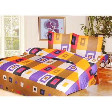 10 Piece Home Decor Combo (IWS 2 Bedsheet with 4 Pillow Covers + 2 Door Curtains + 2 Mats) -IWS-JC-25